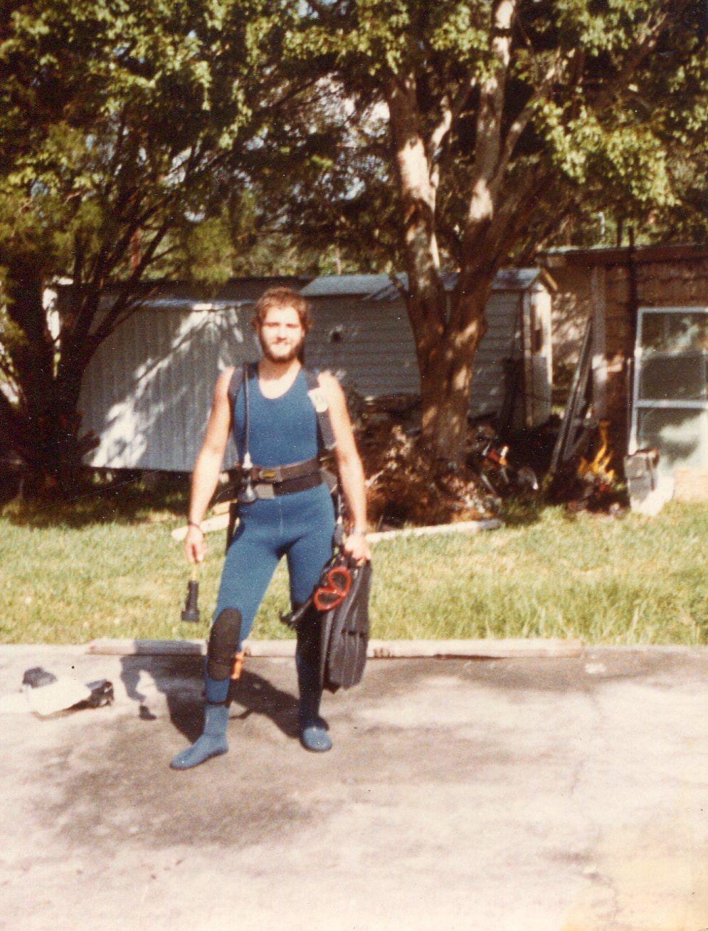 1977 about to dive Hospital hole in Weeke Wachi FL.