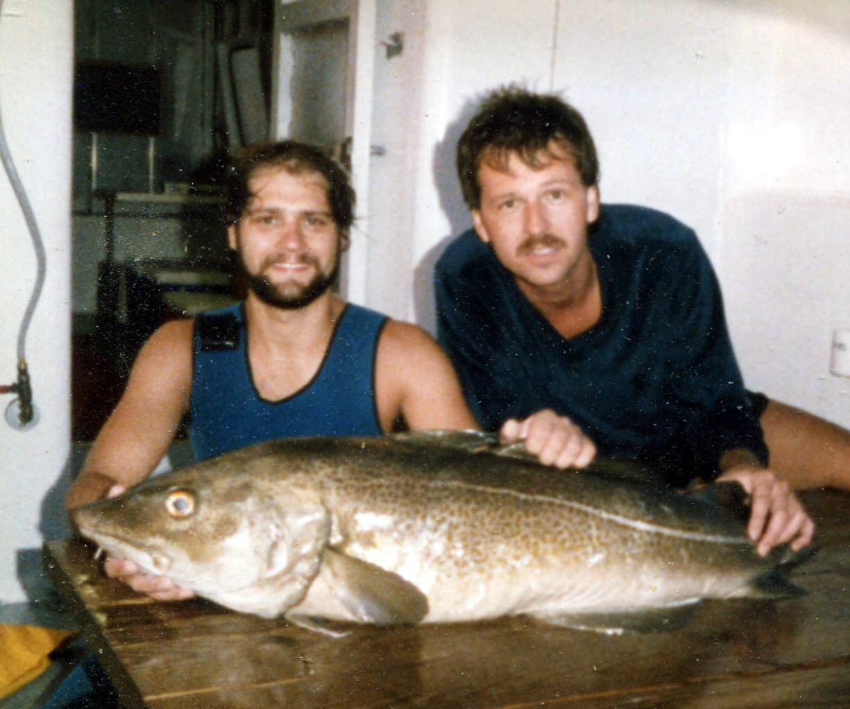 1984 I shot a big cod aboard the Sea Hunter with Dave Tingles on the wreck of the Resor