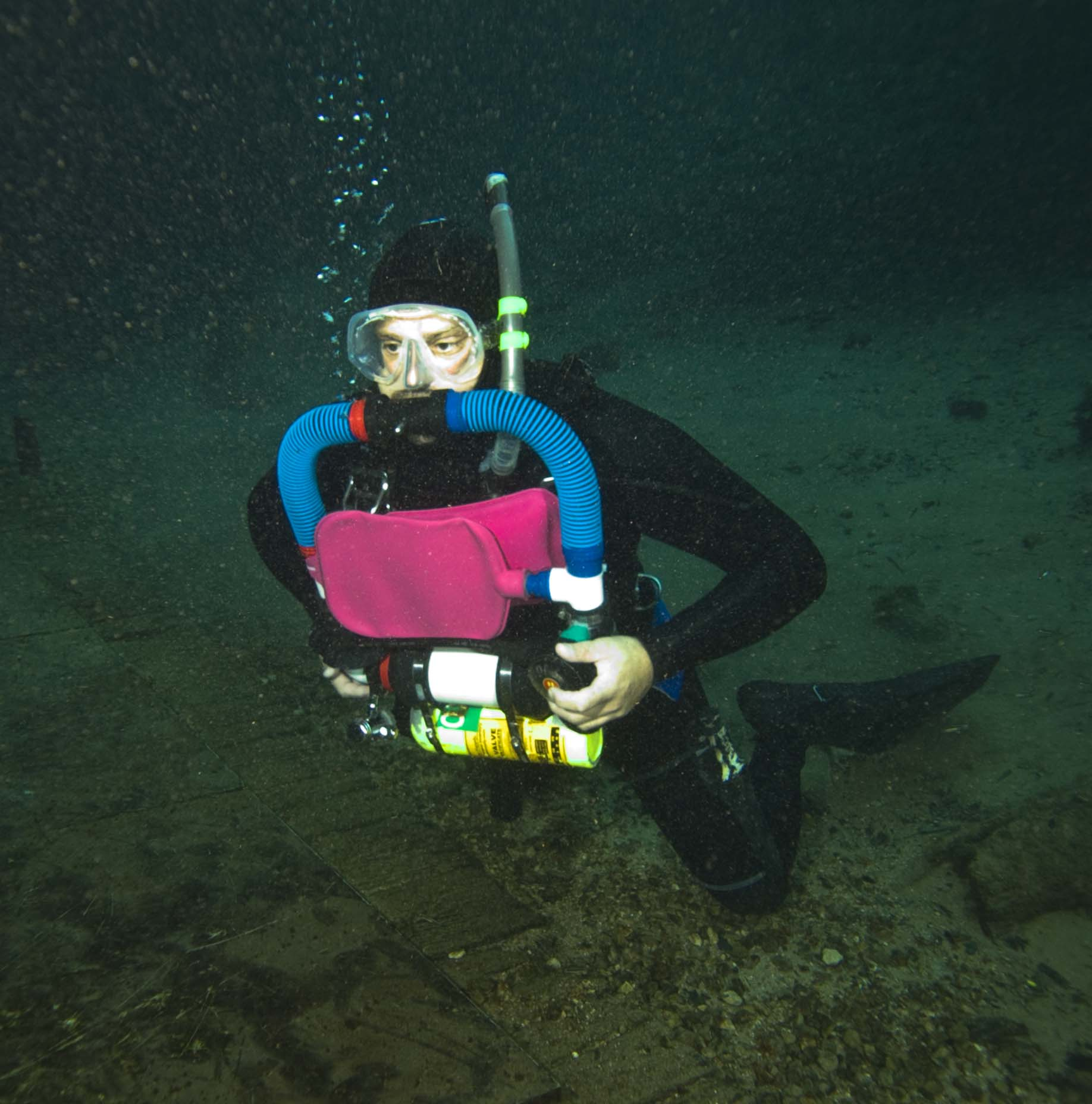 2009 experimental home made rebreather dive in Blue Grotto FL