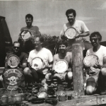 1991 Andrea Doria silver and china hole with Joe, Brad,Pat Jeff & John.jpg