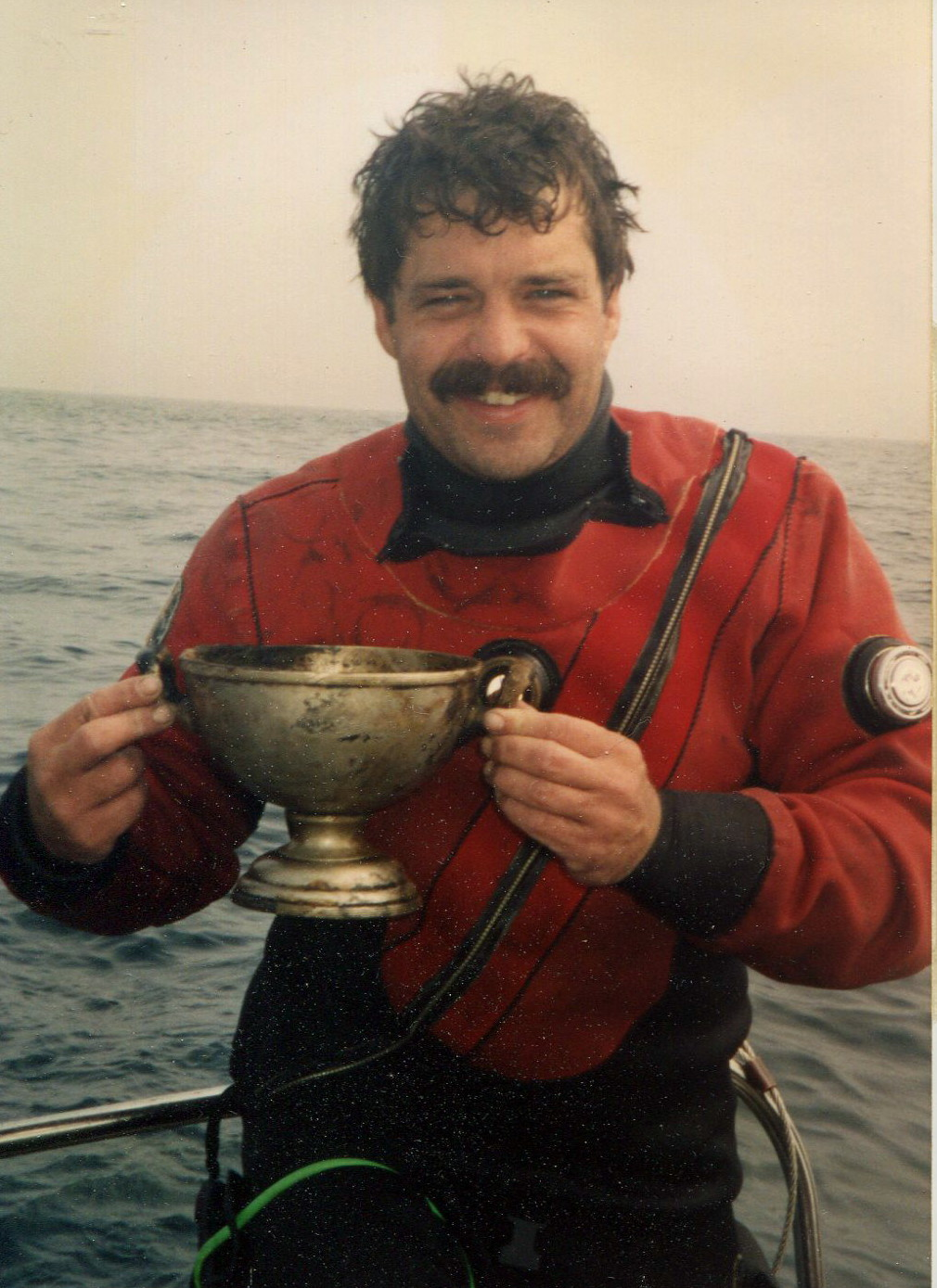 AWD Pat Rooney with silver bowl from the Andrea Doria