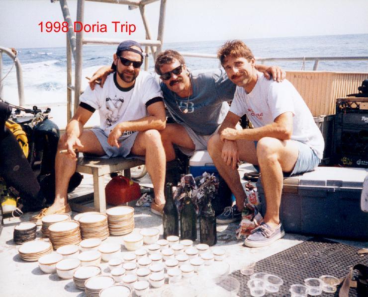 AWD trip to the Andrea Doria 1998, Pat Rooney, Jeff Pagano and I