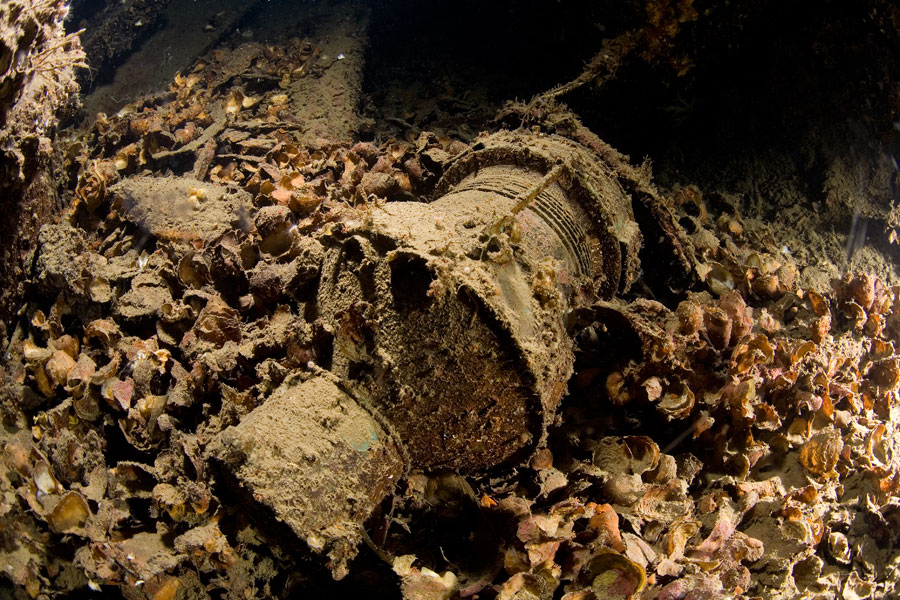 2009 012 All artifacts lay untouched as the wreck is a protected site. Courtesy Leigh Bishop