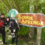 Carrie and I doing our full cave training with Jeff Bozanic in Florida