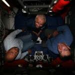 Titanic 002 its a tight fit in the MIR's, John Chatterton, Anatoly and Me