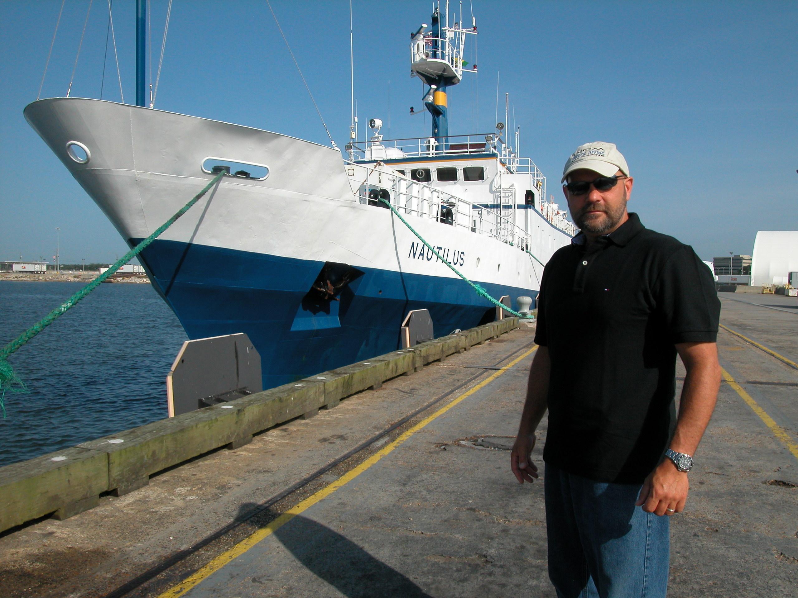 EV Nautils and Richie Kohler in port.