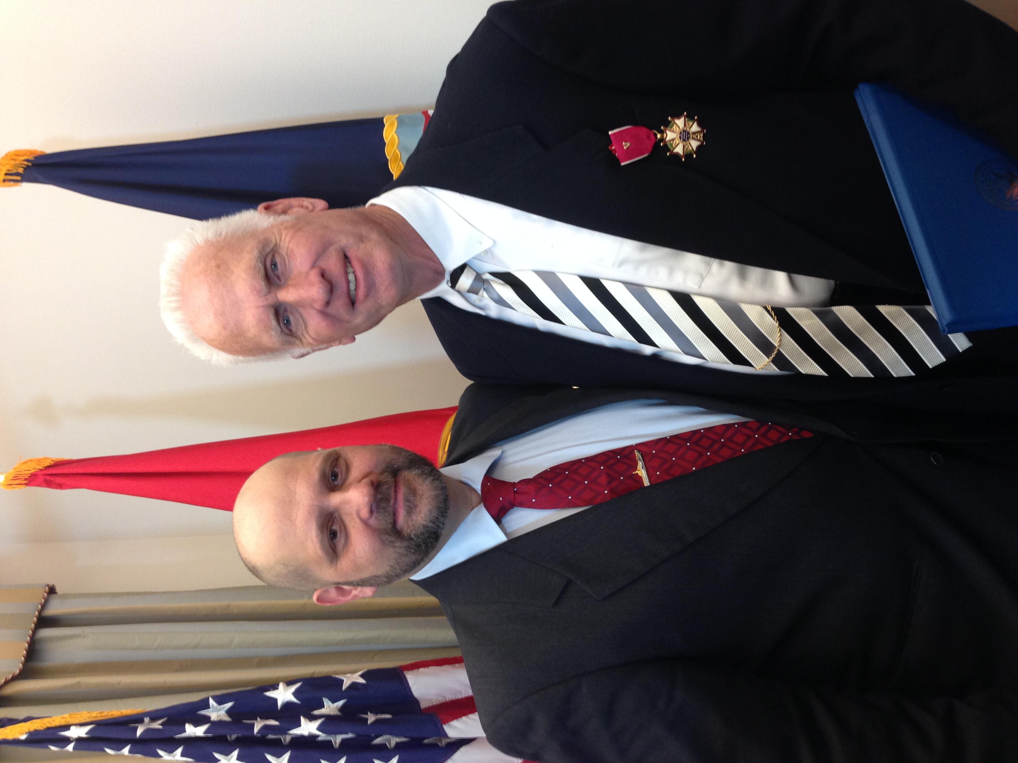 Gordon Claudius and Author in Pentagon.