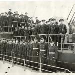 U-869 crew at commisioning
